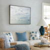 Picture of Tiverton Sky Blue Faux Grasscloth Wallpaper