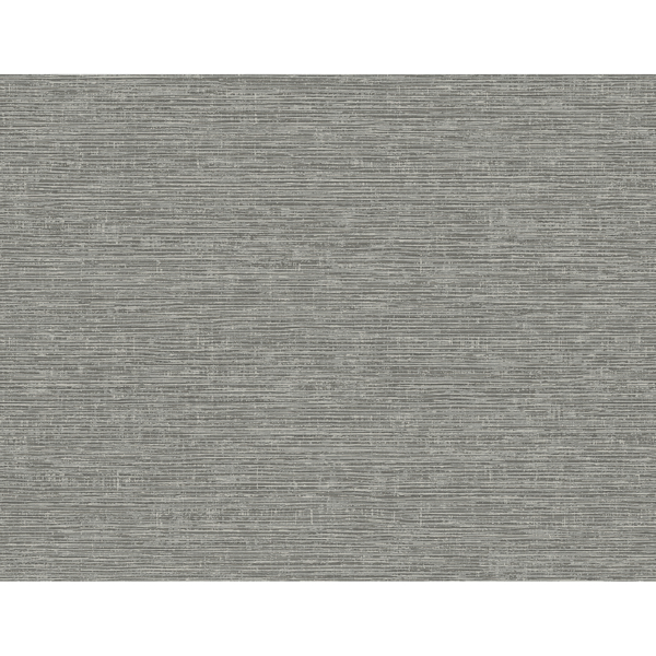 Picture of Tiverton Charcoal Faux Grasscloth Wallpaper
