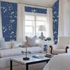 Picture of Monterey Cobalt Floral Branch Wallpaper