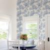 Picture of Carmel Light Blue Baroque Florals Wallpaper