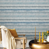 Picture of Blue Dhurrie String Peel and Stick Wallpaper