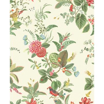 Picture of Floris Mint Woodland Floral Wallpaper