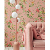 Picture of Floris Pink Woodland Floral Wallpaper