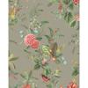 Picture of Floris Khaki Woodland Floral Wallpaper