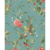 Picture of Floris Turquoise Woodland Floral Wallpaper