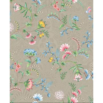 Picture of La Majorelle Khaki Ornate Floral Wallpaper
