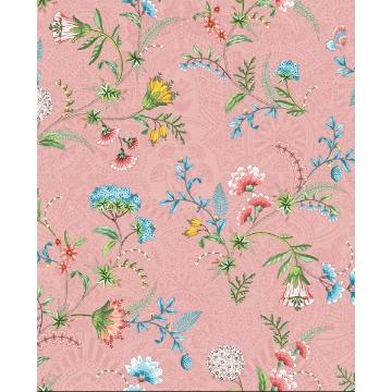 Picture of La Majorelle Pink Ornate Floral Wallpaper