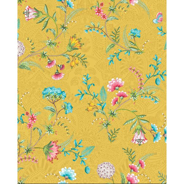 Picture of La Majorelle Yellow Ornate Floral Wallpaper