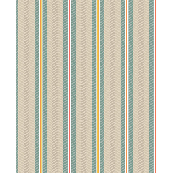 Picture of Cato Turquoise Blurred Lines Wallpaper