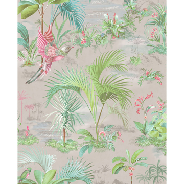 Picture of Calliope Grey Palm Scenes Wallpaper