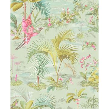 Picture of Calliope Seafoam Palm Scenes Wallpaper