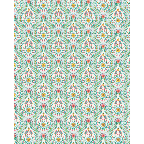 Picture of Garden Party Off-White Raindrops Wallpaper