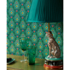 Picture of Garden Party Teal Raindrops Wallpaper