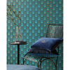 Picture of Garden Party Dark Blue Raindrops Wallpaper