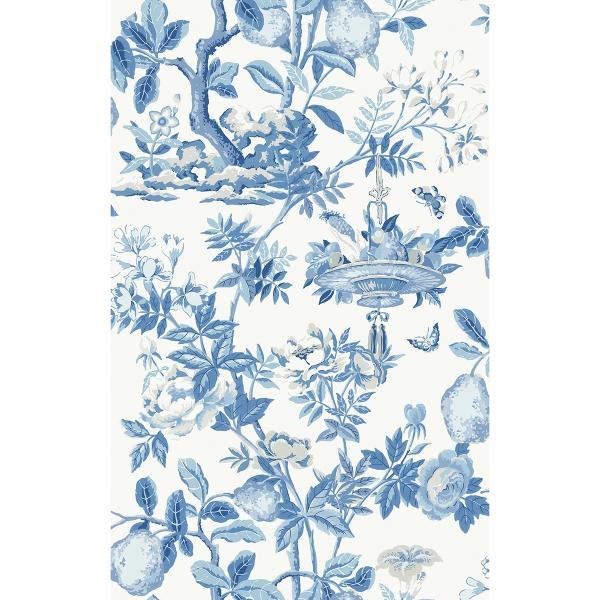 Picture of Delft Shantung Garden Scalamandre Self Adhesive Wallpaper