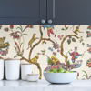 Picture of White Chinoise Exotique Scalamandre Self Adhesive Wallpaper