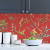 Picture of Tomato Chinoise Exotique Scalamandre Self Adhesive Wallpaper