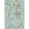Picture of Robin Egg Chinoise Exotique Scalamandre Self Adhesive Wallpaper