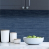 Picture of Avery Weave Navy Peel and Stick Wallpaper