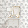 Picture of Gray Elephant Parade Peel And Stick Wallpaper