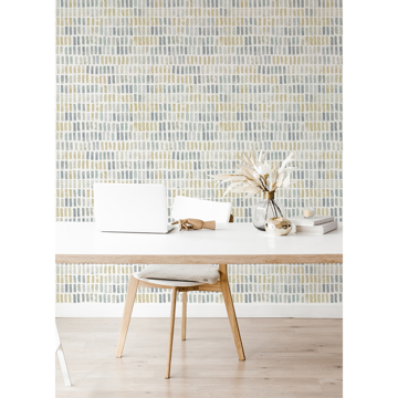 Picture of Brynne Yellow Watercolor Wallpaper