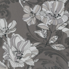 Picture of Selene Silver Mucha Floral Wallpaper