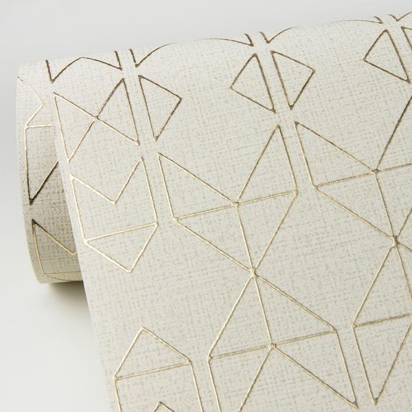 Picture of Paititi Gold Diamond Trellis Wallpaper