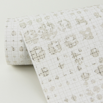 Picture of Celeste Platinum Geometric Wallpaper