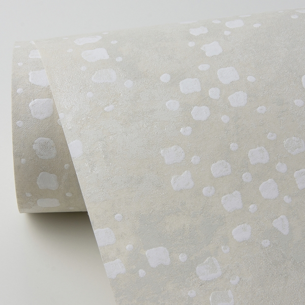 Picture of Felsic Cream Studded Cube Wallpaper