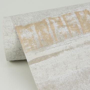 Picture of Rakasa Gold Distressed Stripe Wallpaper