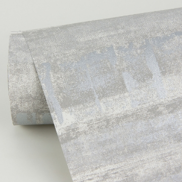Picture of Rakasa Silver Distressed Stripe Wallpaper