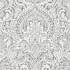 Picture of Artemis Platinum Floral Damask Wallpaper