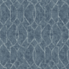 Picture of Ziva Blue Trellis Wallpaper