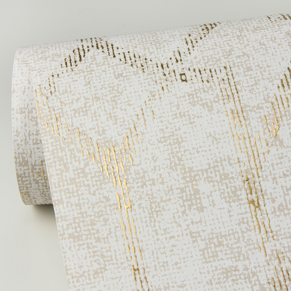 Picture of Ziva Gold Trellis Wallpaper