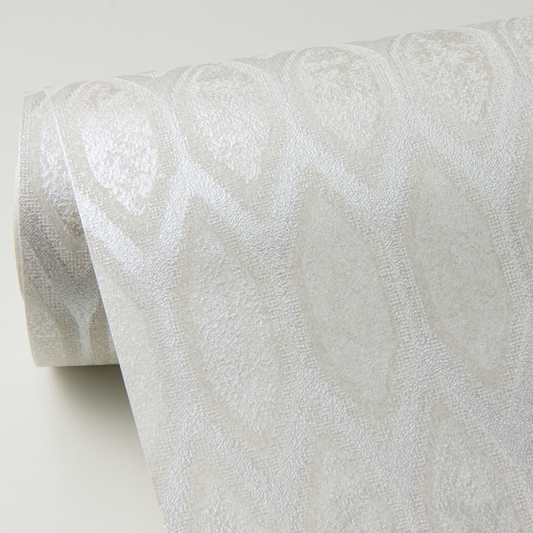 Picture of Damour Cream Hexagon Ogee Wallpaper