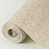 Picture of Maia Gold Faux Linen Wallpaper