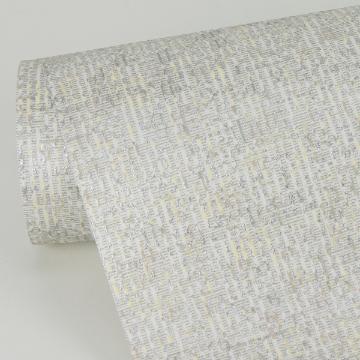 Picture of Maia Platinum Faux Linen Wallpaper