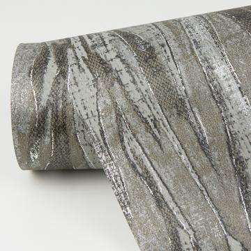 Picture of Suna Charcoal Woodgrain Wallpaper