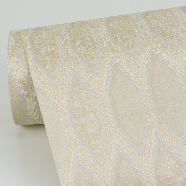 Picture of Damour Gold Hexagon Ogee Wallpaper