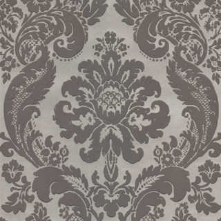 Picture of Shadow Grey Damask Wallpaper  - Roll