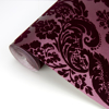 Picture of Shadow Merlot Flocked Damask Wallpaper