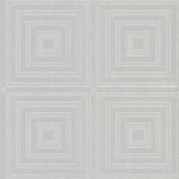Picture of Luminous Silver Beaded Geometric Wallpaper