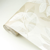 Picture of Chimera Champagne Flocked Leaf Wallpaper