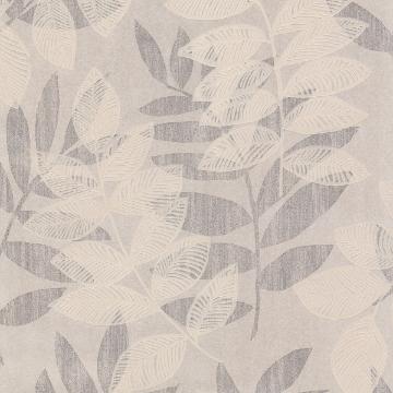 Picture of Chimera Platinum Flocked Leaf Wallpaper