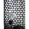 Picture of Waldorf Charcoal Flocked Links Wallpaper