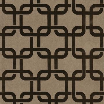 Picture of Waldorf Brown Flocked Links Wallpaper