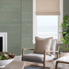 Picture of Batad Green Grasscloth Wallpaper