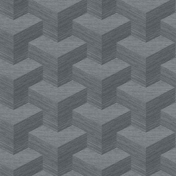 Picture of Y Knot Slate Geometric Texture Wallpaper