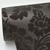 Picture of Shadow Brown Flocked Damask Wallpaper