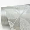 Picture of Chimera Silver Flocked Leaf Wallpaper